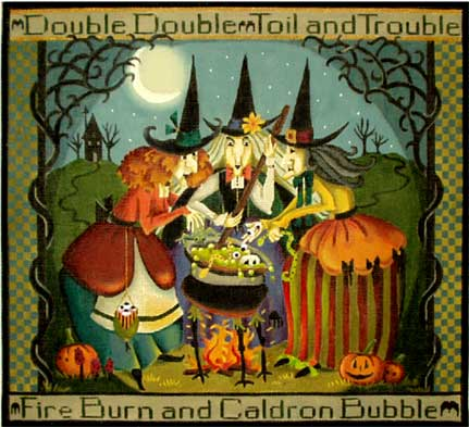 Toil and Trouble hand painted canvases