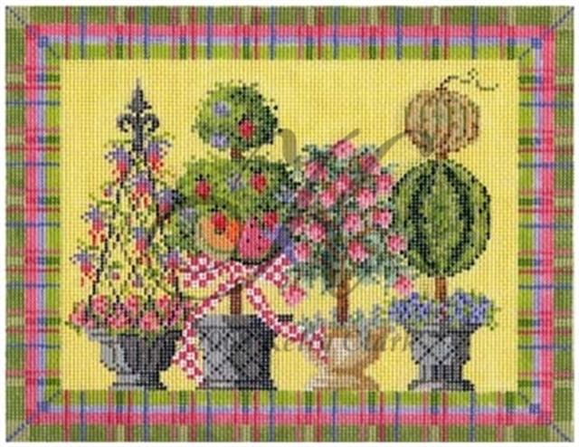 click here to view larger image of Summertime Topiaries Stitch Guide (books)
