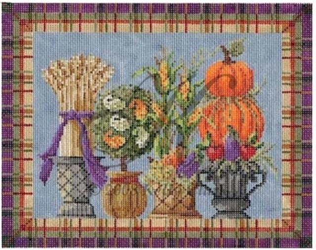 click here to view larger image of Autumn Topiaries Stitch Guide (books)