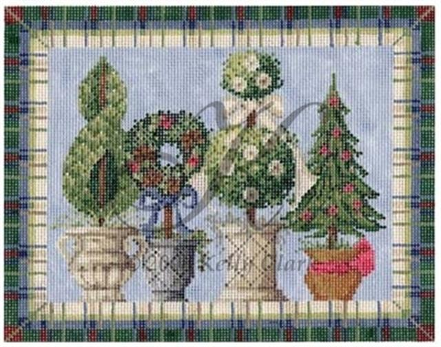 click here to view larger image of Winter Topiaries Stitch Guide (books)