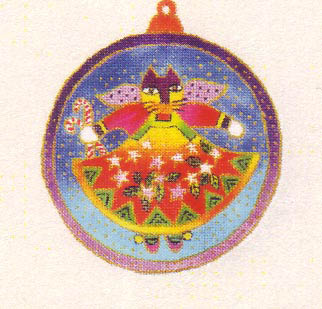 click here to view larger image of Cat Angel Ornament (None Selected)