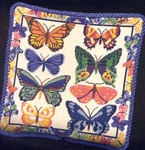click here to view larger image of Butterflies Galore (needlepoint kits)