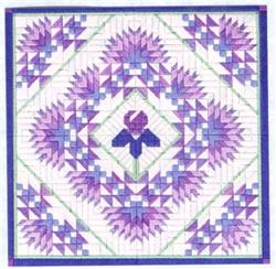 click here to view larger image of Iris and Fans Quilt (counted canvas work)