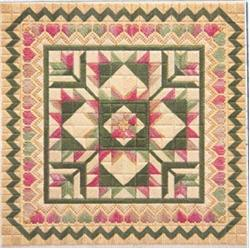 click here to view larger image of Hearts and Flowers Quilt (counted canvas work)