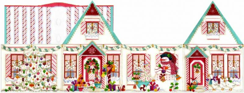 click here to view larger image of Peppermint Stick Christmas (hand painted canvases)