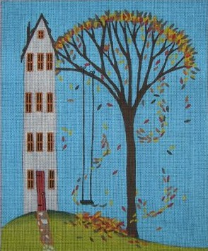 click here to view larger image of Autumn Swing (hand painted canvases)