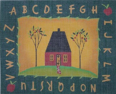 click here to view larger image of Alphabet House (hand painted canvases)