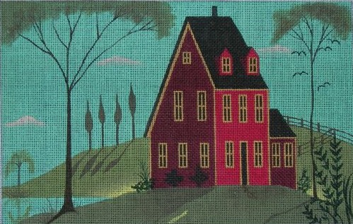 click here to view larger image of House on Lake (hand painted canvases)