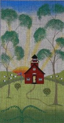 click here to view larger image of Little Red Schoolhouse (hand painted canvases)