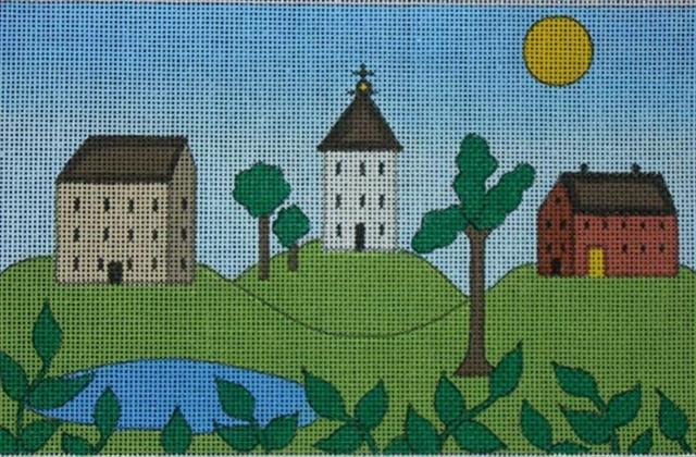 click here to view larger image of Country Homes (hand painted canvases)
