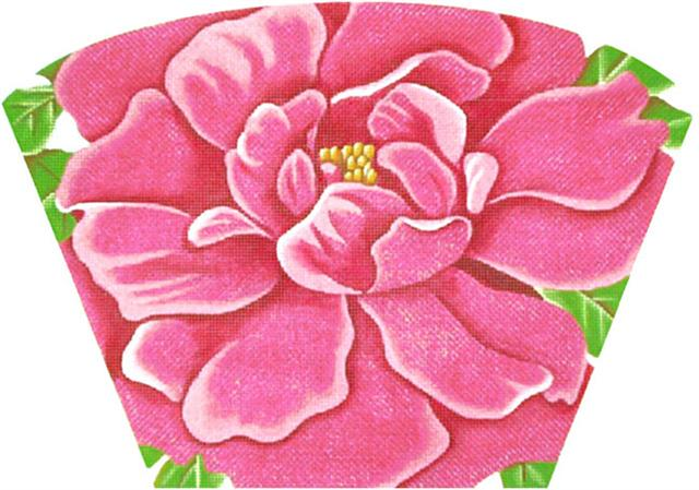click here to view larger image of Hot Pink Peony (Purse) (hand painted canvases)