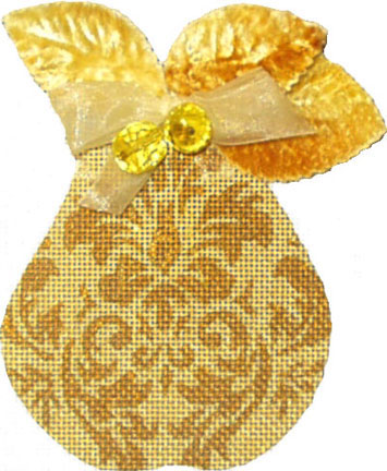 click here to view larger image of Golden Pears - Damask (Velvet Leaves included) (hand painted canvases)