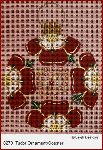 click here to view larger image of Tudor Ornament/Coaster (hand painted canvases)