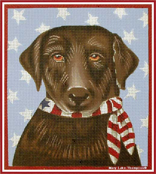 click here to view larger image of 4th July Lab (hand painted canvases)