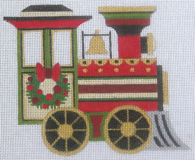 Train Engine (includes stitch guide) hand painted canvases