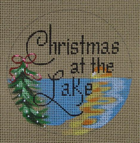 click here to view larger image of Christmas at the Lake (hand painted canvases)