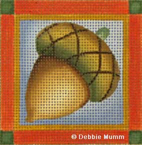 click here to view larger image of Acorn Coaster (hand painted canvases)