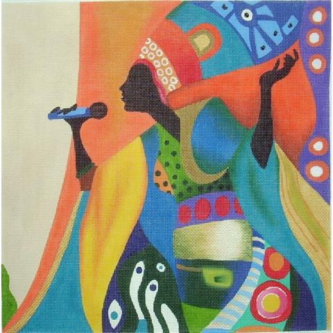 click here to view larger image of Soul Singer (hand painted canvases)