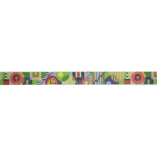 click here to view larger image of Autumn Abtract Belt (hand painted canvases)