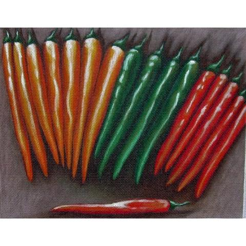 click here to view larger image of Chili Peppers (hand painted canvases)