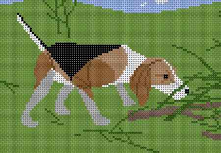 click here to view larger image of Beagle - 13ct (hand painted canvases)