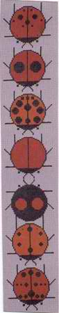 click here to view larger image of Ladybug Sampler (hand painted canvases)