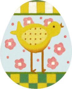 click here to view larger image of Chick Egg (hand painted canvases)