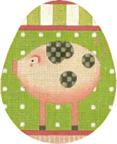 click here to view larger image of Pig Egg (hand painted canvases)