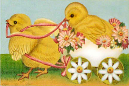 click here to view larger image of Chick Parade (hand painted canvases)