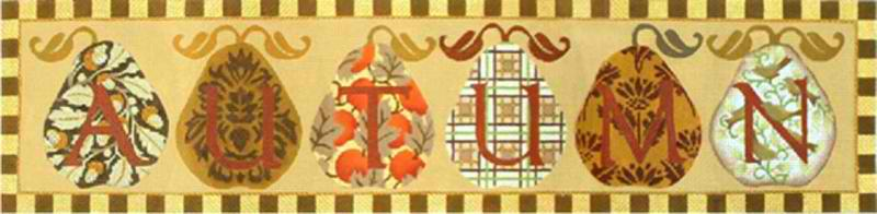 click here to view larger image of Autumn Banner (hand painted canvases)