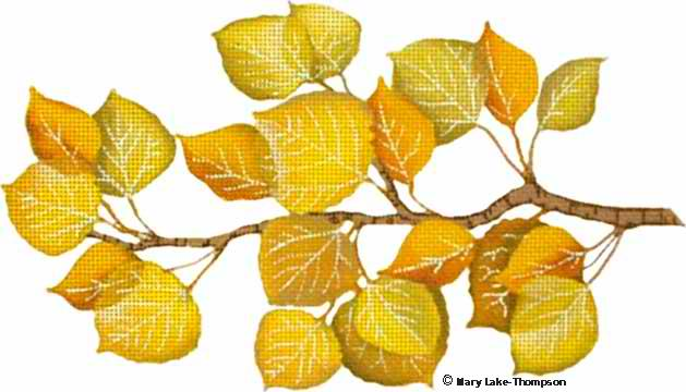 click here to view larger image of Yellow Aspen Leaves (hand painted canvases)