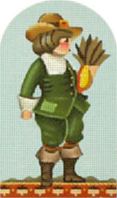 click here to view larger image of Green Pilgrim Boy (Domed) (hand painted canvases)