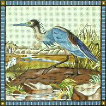 click here to view larger image of Blue Heron - 18m (hand painted canvases)