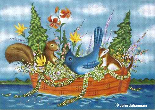 click here to view larger image of Boat Friends (hand painted canvases)