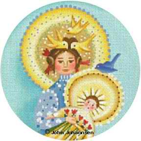 click here to view larger image of Bluebird Madonna (hand painted canvases)