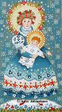 click here to view larger image of Winter Madonna (hand painted canvases)