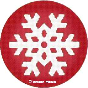 click here to view larger image of Red with Snowflake Ornament (hand painted canvases)