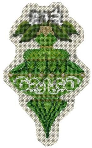 click here to view larger image of August Peridot Ornament (hand painted canvases)