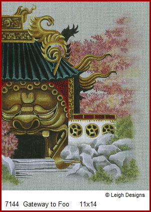 click here to view larger image of Gateway to Foo (hand painted canvases)