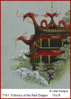 click here to view larger image of Fortress of the Red Dragon (hand painted canvases)