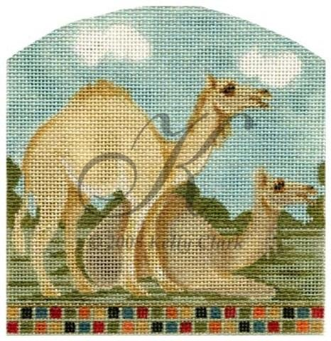 click here to view larger image of Noah's Camels (hand painted canvases)