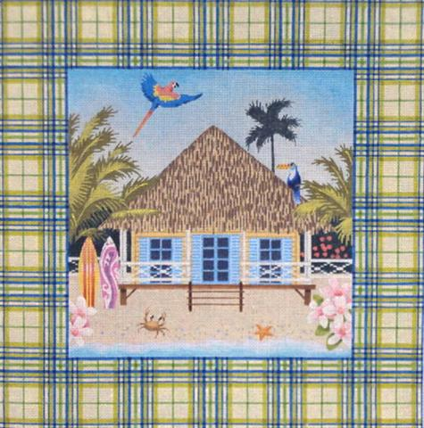 click here to view larger image of Tartan Tropical House (hand painted canvases)