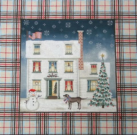 click here to view larger image of Tartan Christmas House (hand painted canvases)