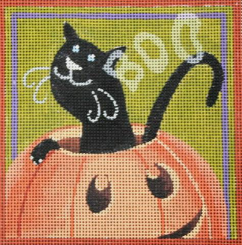 click here to view larger image of Boo Cat (hand painted canvases)
