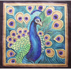click here to view larger image of Peacock Thalo Blue and Green (hand painted canvases)