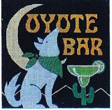 click here to view larger image of Coyote Bar (hand painted canvases)