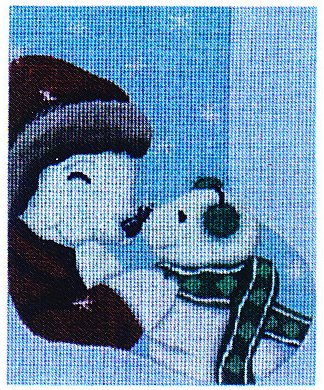 click here to view larger image of Fuzzy Kiss Mini Stocking (hand painted canvases)