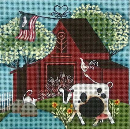 click here to view larger image of Red Barn (hand painted canvases)