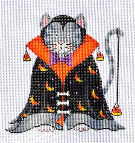 click here to view larger image of Dracula Cat (hand painted canvases)
