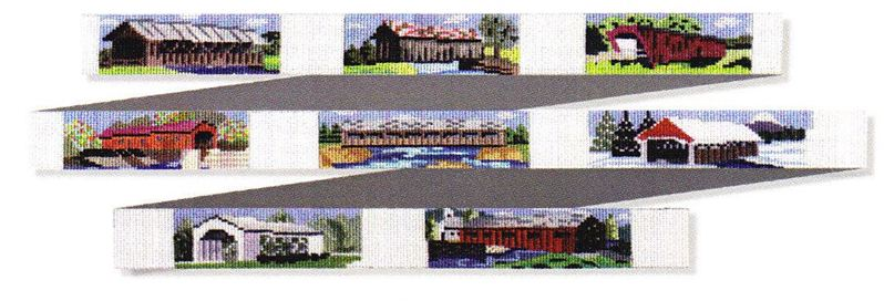 click here to view larger image of Covered Bridges Belt (hand painted canvases)